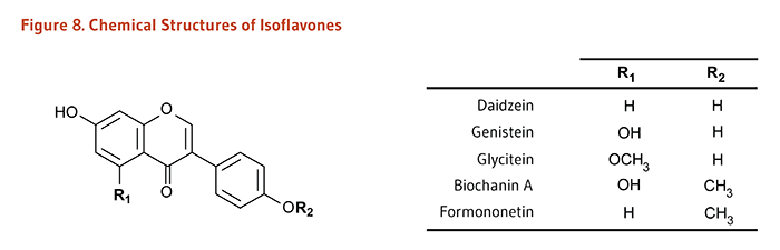 Figure 8. Chemical Structures of Isoflavones