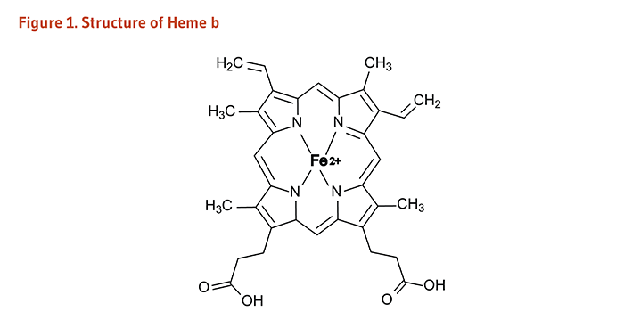 Figure 1. Structure of Heme b.
