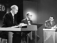Debate on nuclear fallout in 1958