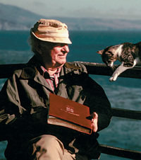 Pauling with his Cat in Big Sur