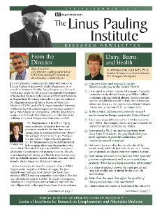 Research Newsletter Linus Pauling Institute Oregon