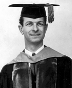 1933: receiving an honorary degree from OAC