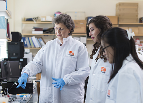 Kathy Magnusson in laboratory