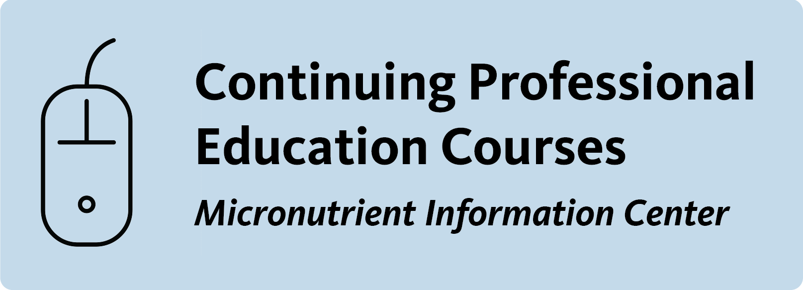 button to link to page that list the LPI continuing education courses for healthcare professionals