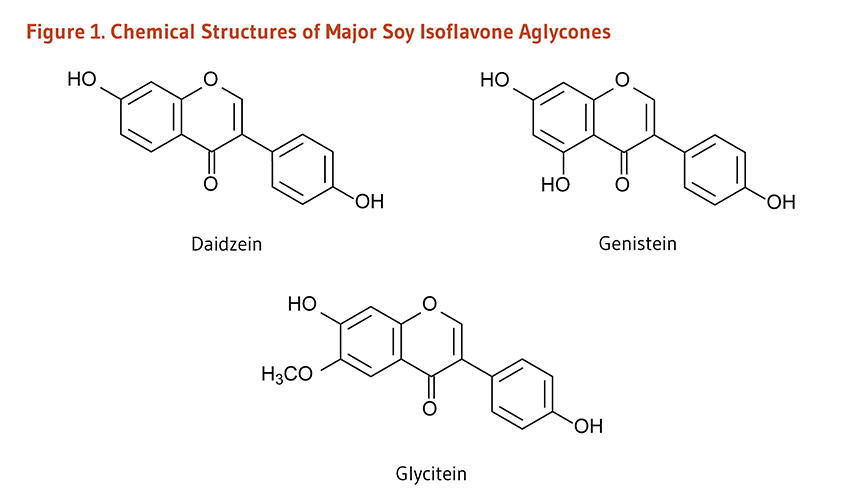 Figure 1. Chemical Structures of Major Soy Isoflavone Aglycones