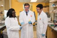 Richard van Breemen in lab