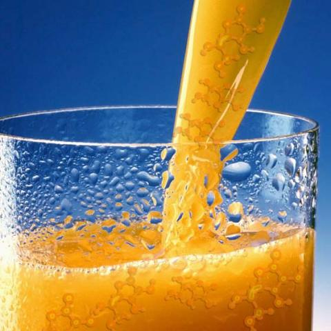 vitamin C in orange juice