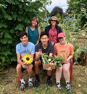 Summer Urban Farm interns