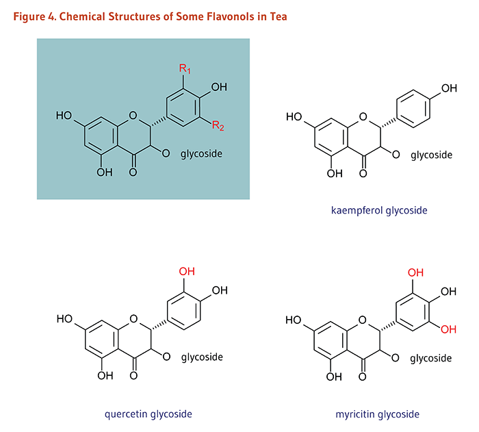 Figure 4. Chemical Structures of Some Flavonols in Tea.